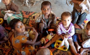 Children at the creche